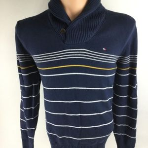 Tommy Hilfiger Sweaters Mens Bluewhite Striped Sweater Poshmark